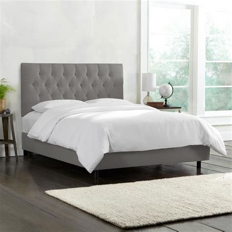 gray tufted bed linen grey tufted bed 540bedlnngr the home