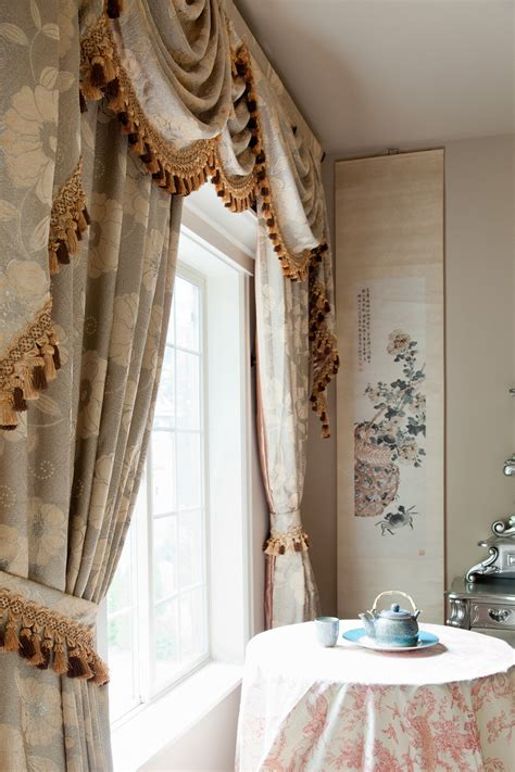 drapes and valances green camellia swag valances curtain draperies