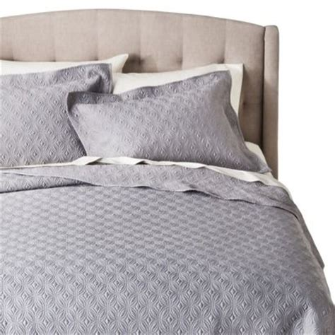 Fieldcrest Coverlet by Target Fieldcrest 174 Luxury Silk Quilt Set Gray