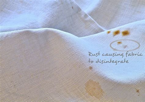 rust clothes remove stains stain removal fabric remover linens mystery lace care