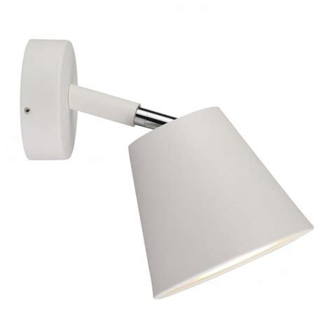 contemporary led bathroom wall spot light in white finish