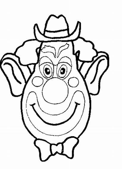 Coloring Pages Clowns Clown Face