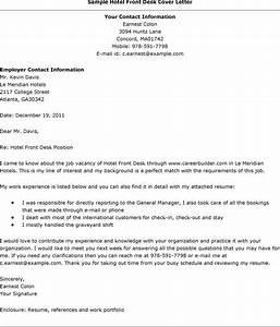 front desk cover letter sample the letter sample With cover letter for hotel jobs