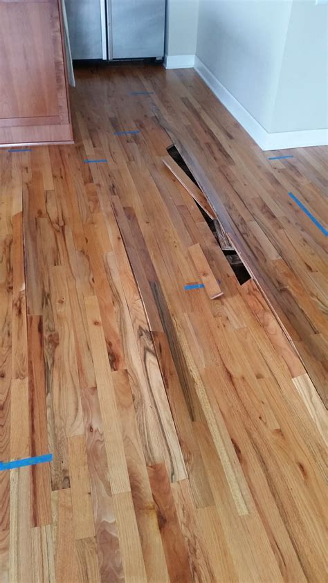 buckled wood floor wood flooring