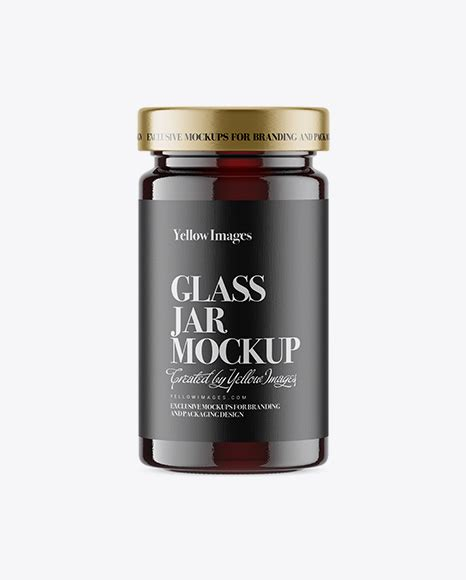 Free psd packaging mockups templates for: Download Psd Mockup Buckwheat Cap Clear Dessert Food Glass ...