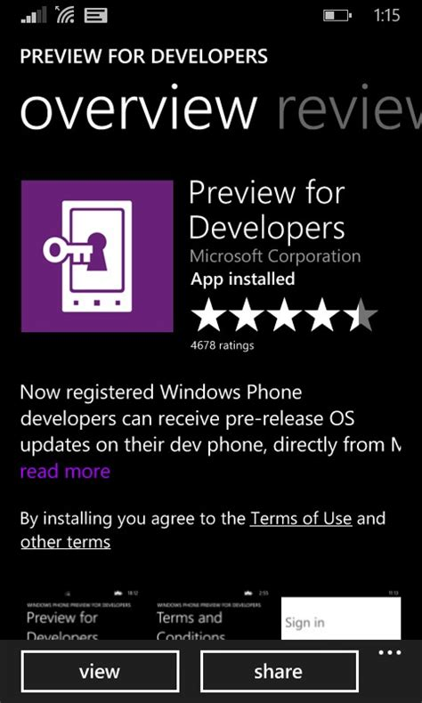 how to get pre release os updates for windows phone