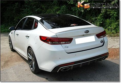 optima store   kia optima painted trunk spoiler