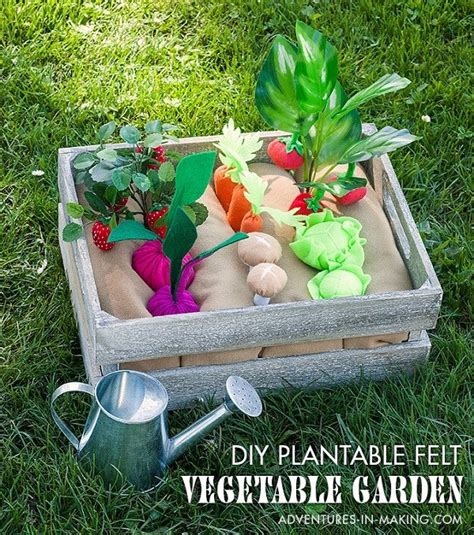 tutorial plantable felt vegetable garden play set sewing