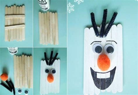 schneemann nase basteln basteln f 252 r weihnachten mit eisstielen 20 deko ideen und anleitungen