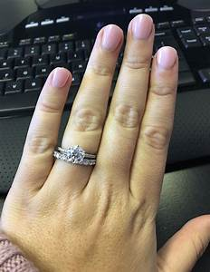 thin engagement ring thick wedding band With thin band wedding ring
