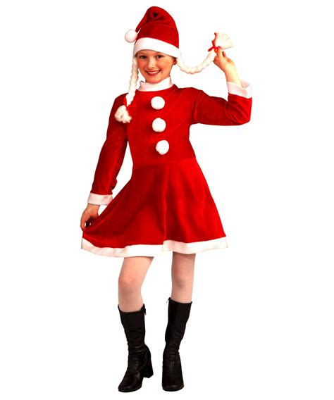 little ms santas helper kids costume