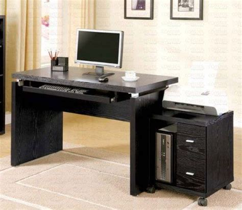 mobile computer desk for home computer desk with mobile computer stand in black finish