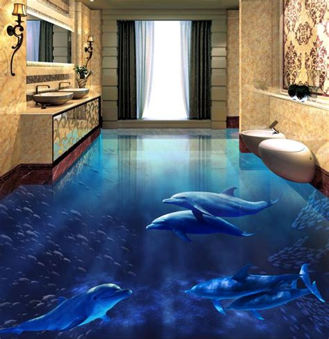 custom  flooring pvc vinyl floor dolphins  floor