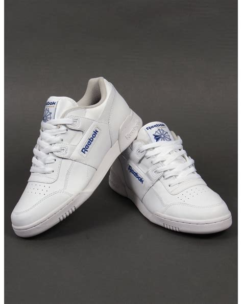 reebok workout plus trainers white shoes sneakers