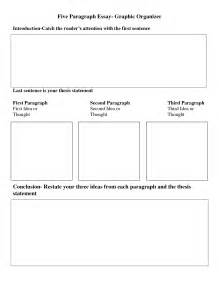 Writing 5 Paragraph Essay Graphic Organizer