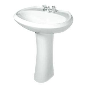 Gerber Pedestal Sink by Gerber Maxwell Pedestal Combo Bathroom Sink In White