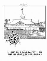 Beach Coloring Newport Pages Pavilion Visit Desired Balboa sketch template