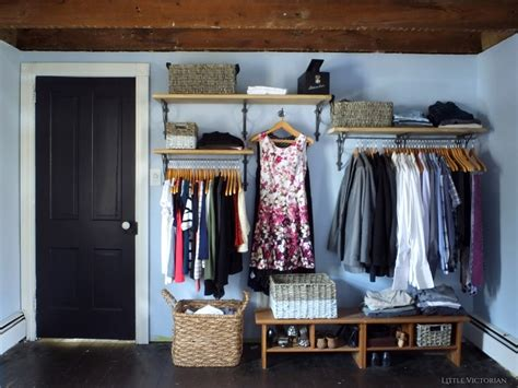 Ideas For Hanging Clothes Without A Closet by Our New Closet Reveal