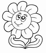 Daisy Coloring Flower Colorings Pages Flowers sketch template
