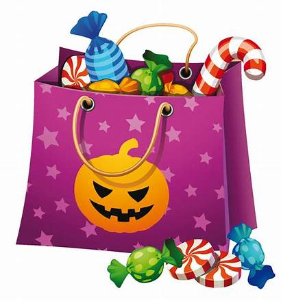 Candy Halloween Bag Clipart Clip Treat Trick