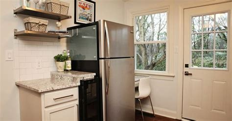 cabinets for small kitchen tiny kitchen fridge is even small scale stainless steel 5079