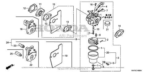 Honda Carb Diagram Cleaning by Honda Hrx217k1 Vkaa Lawn Mower Usa Vin Maga 1400001 To