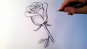 Comment Faire Une Rose En Papier Facilement : comment dessiner une rose tutoriel youtube ~ Nature-et-papiers.com Idées de Décoration