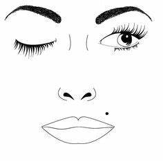 Brown Face Chart Blank 30 Meilleures Images Du Tableau Maquillage Face Charts