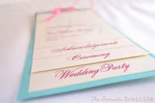 wedding program templates diy wedding revisited program templates the domestic domicile