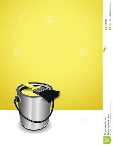 fond jaune de pot de peinture illustration stock image 34980128
