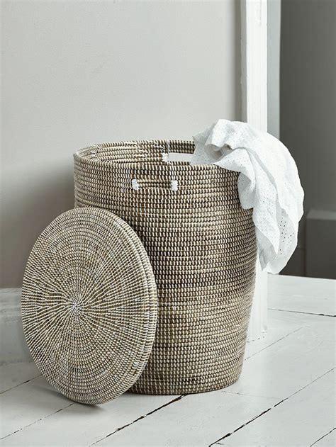 wicker woven laundry basket  laundry ideas