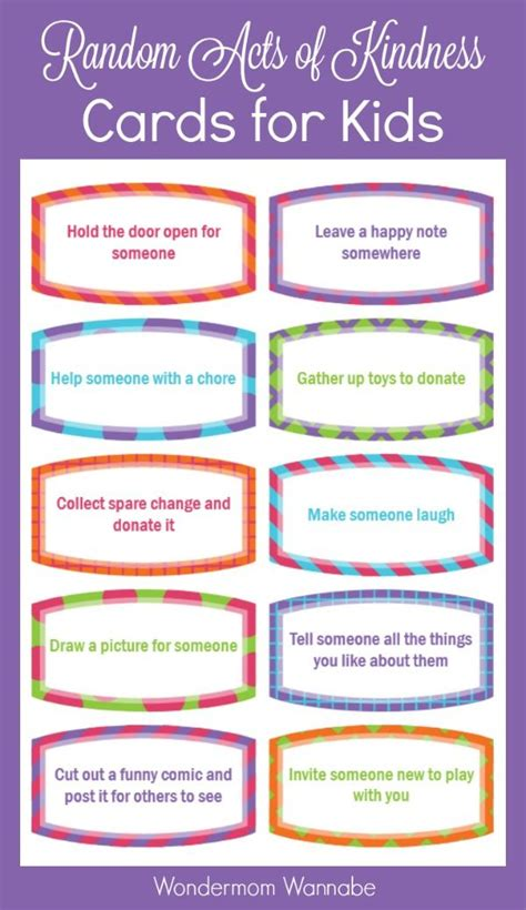 Random Acts Of Kindness Cards Templates