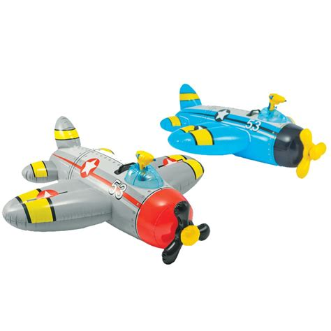plane für pool pool float ride on floating plane water gun for ages 3 colors may vary ebay