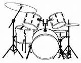 Drums Coloring Majestic Template Musical Para Sketch Templates Musicais Instrumentos Salvo sketch template