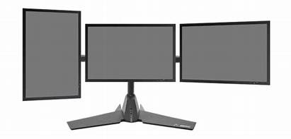 Monitor Clipart Stand Computer Triple Overlooked Upgrade