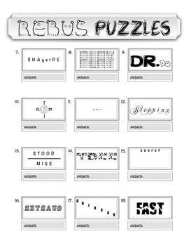 rebus worksheets geersc