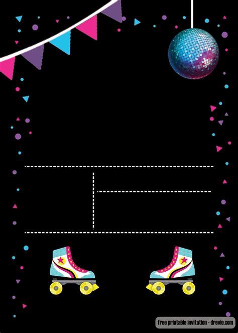 printable roller skating invitation template