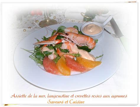 comment cuisiner des crevettes roses assiette de la mer langoustine et crevettes roses aux agrumes blogs de cuisine