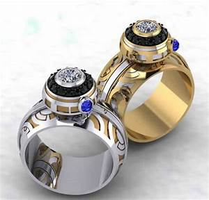 21 wedding rings inspired by the star wars saga for Star wars wedding rings