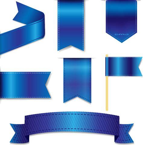 blue certificate ribbon  vector