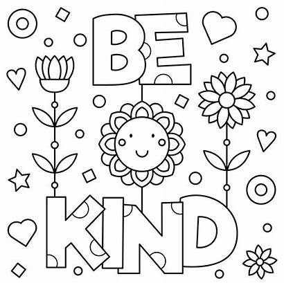 Coloring Kind Pages Kindness Printable Vector Growth