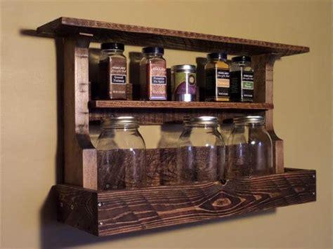 Handmade Spice Rack by Diy Pallet Kitchen Spice Rack Pallet Furniture Diy