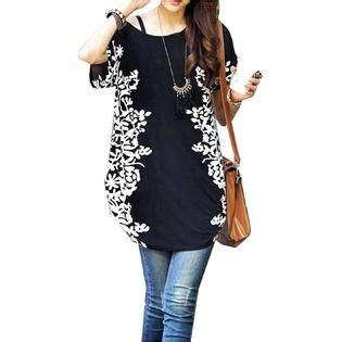Relipop Women Summer Tunic Short Sleeve Casual Loose ...