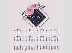 Calendário criativo moderno 2019 com flores Baixar