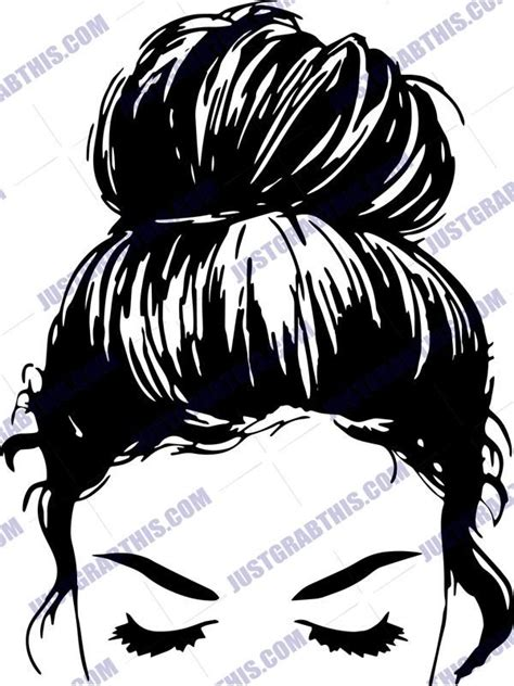 We do not share your email with anyone. Messy Bun SVG Files For Silhouette, Files For Cricut, SVG ...