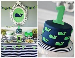 Maverick's 1st Birthday: A Preppy Whale Party - Project