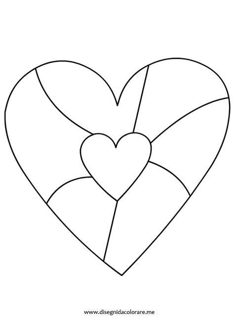 disegno cuore da stare e colorare cuore da colorare disegni da colorare