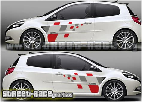 005 renault sport squares side decals race org high quality car stickers car