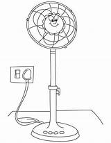 Fan Coloring Pages Electric Printable Clipart Sketch Template Library Clip Getdrawings sketch template