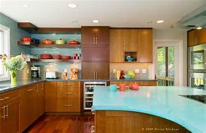 Mid century modern kitchens for Kitchen colors with white cabinets with mid century modern metal wall art